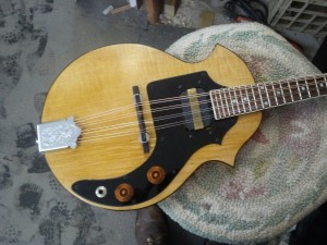 Prototype for the electric mandolin.  Now taking orders!